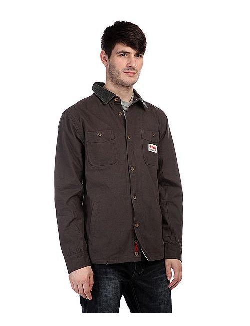 Altamont | Мужская Серая Рубашка Утепленная Flintlock L/S Dark Grey