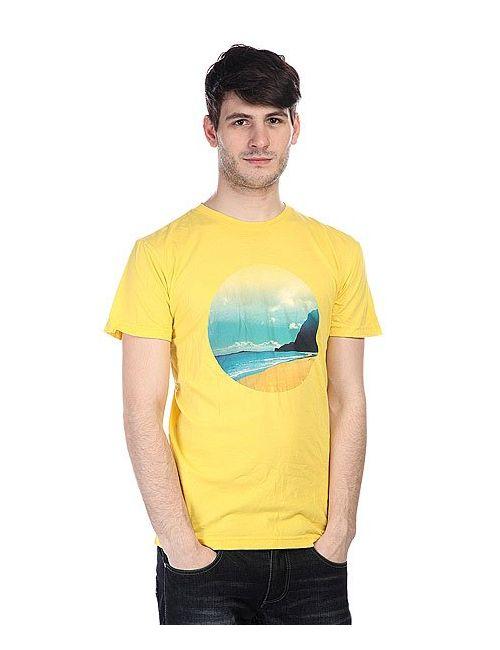Altamont | Мужская Жёлтая Футболка Lost Horizon Yellow