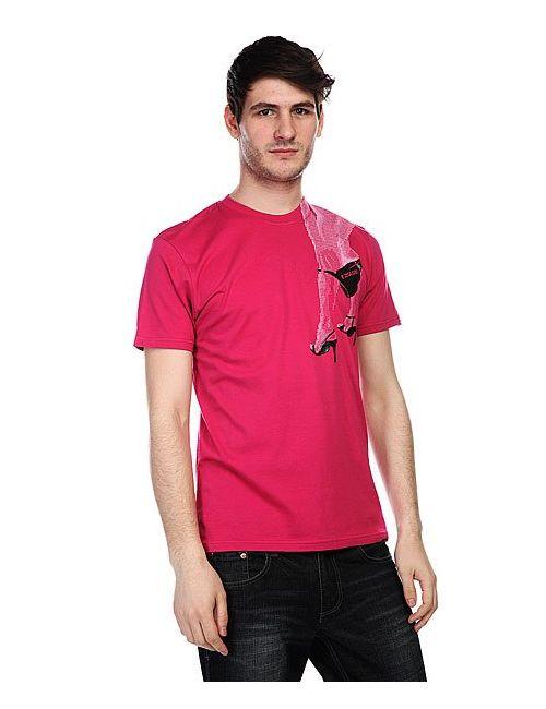 Globe | Мужская Розовая Футболка Easy Ruby