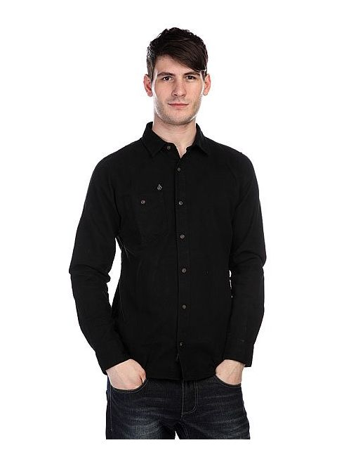 Volcom | Мужская Черный Рубашка Oxford Ls Black