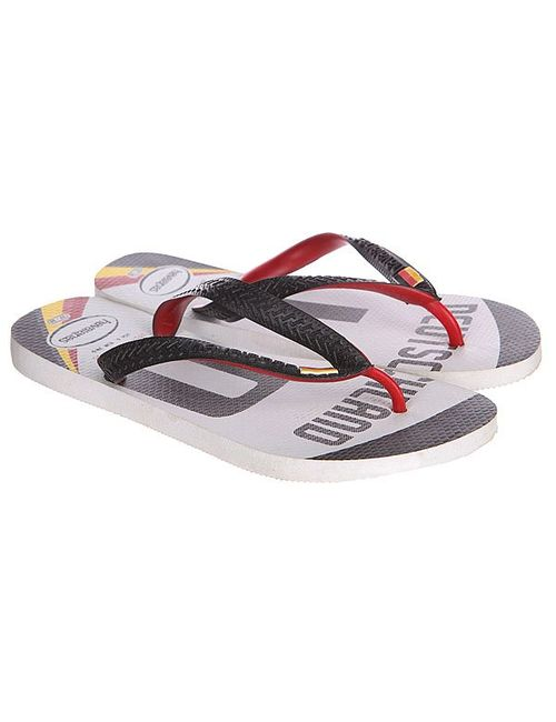 Havaianas | Мужские Жёлтые Шлепанцы Sten Teams Black/White/Red/Yellow