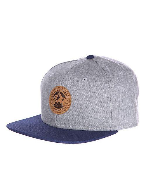 Clwr | Мужская Синяя Бейсболка Badge Cap Grey Melange