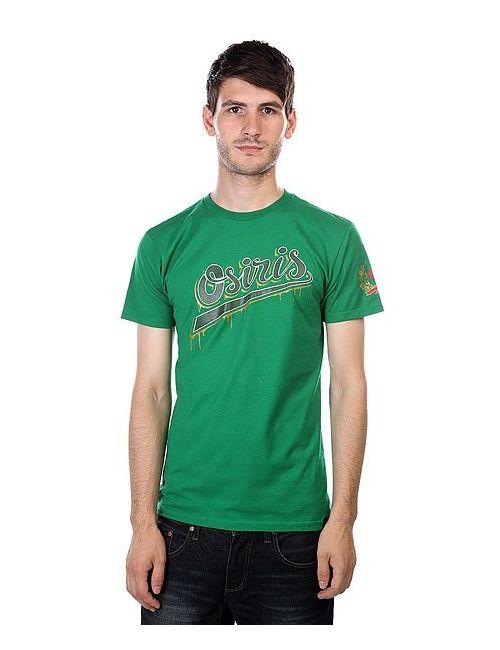 Osiris | Мужская Зелёная Футболка Tee Prague Green