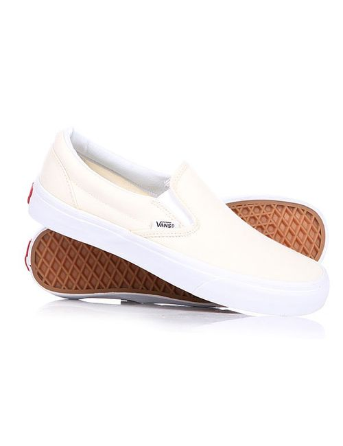Vans   Мужские Бежевые Слипоны Classic Slip On White