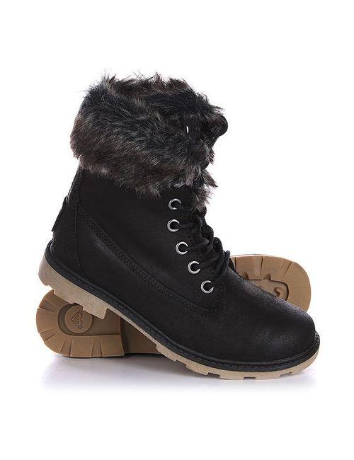 Roxy   Женские Чёрные Ботинки Зимние Женские Timber J Boot Black