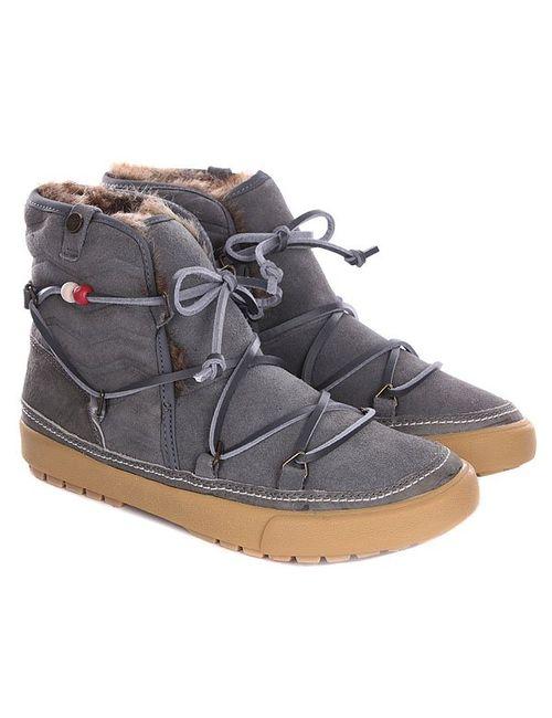 Roxy | Женские Серые Сапоги Зимние Женские Alaska J Boot Black