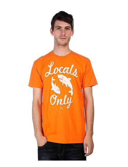 Lost | Мужская Оранжевая Футболка Locals Only Orange