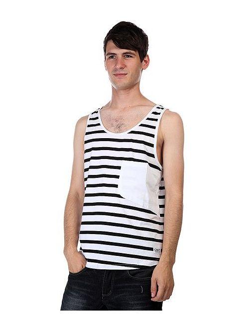 Clwr | Мужская Чёрная Майка Cut Tank Black Stripe