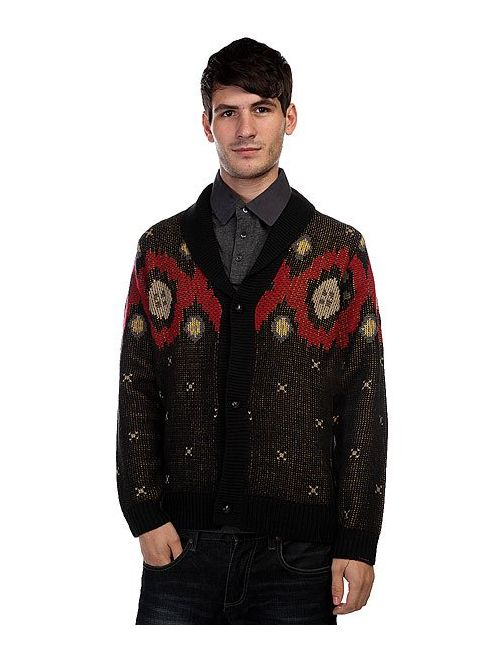 Nixon | Мужской Чёрный Кардиган Campfire Cardigan Sweater Black
