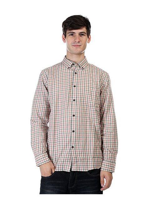 Quiksilver | Мужская Бежевая Рубашка В Клетку Northcatcher Rosewoo