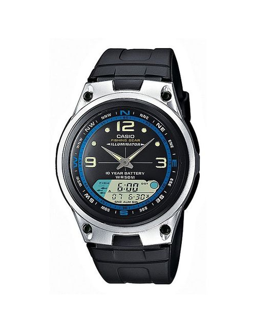 Casio | Мужские Чёрные Часы Collection Aw-82-1a Black/Grey