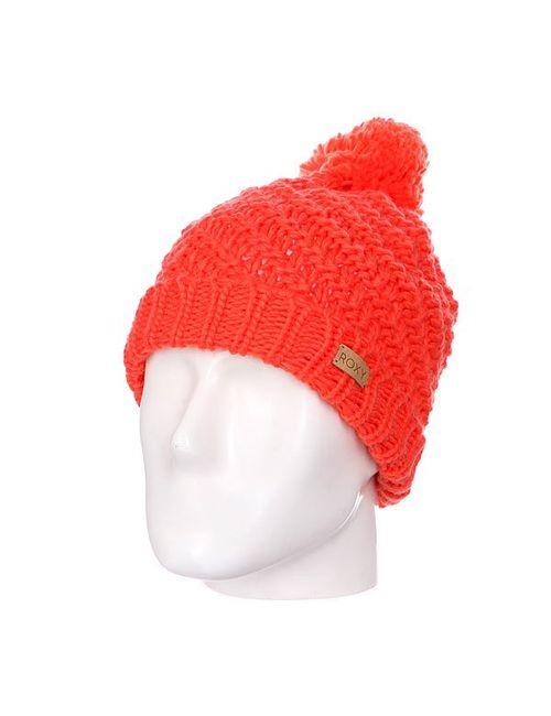 Roxy | Женская Оранжевая Шапка С Помпоном Женская Blizzard Beanie Nasturtium
