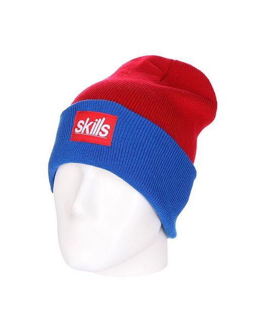 Skills | Мужская Синяя Шапка Носок New Long Royal Red