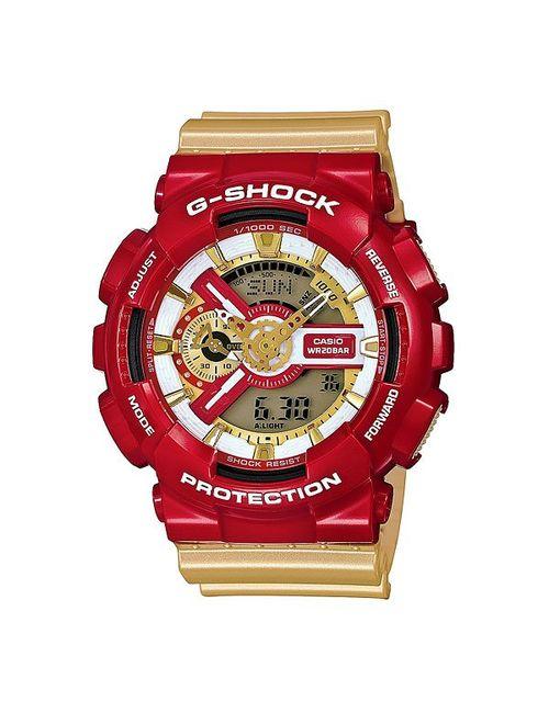 Casio G-Shock | Мужские Жёлтые Часы Ga-110cs-4a Red/Gold