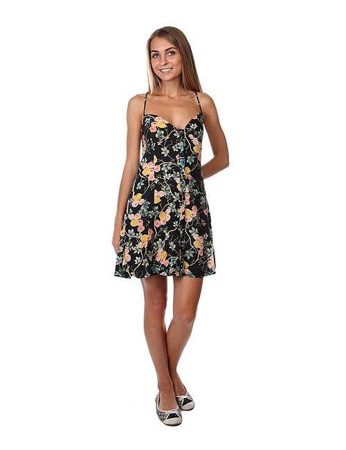 Insight   Женское Чёрное Платье Женское Flowery Multi