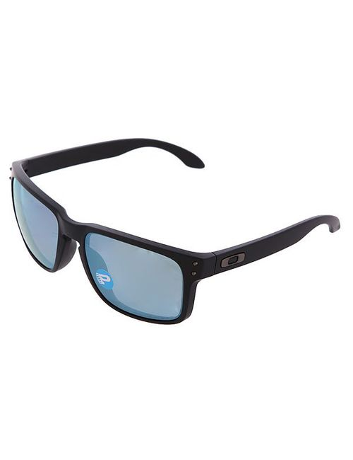 Oakley | Мужские Чёрные Очки Holbrook Matte Black/Emerald Iridium Polarized
