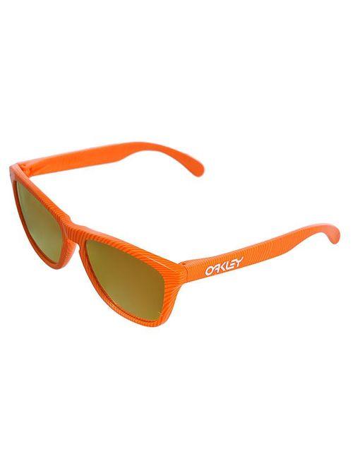 Oakley | Мужские Оранжевые Очки Frogskin Atomic Orange/Fire Iridium