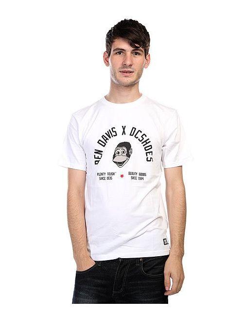 Dcshoes | Мужская Белая Футболка Dc Ben Davis 3 White