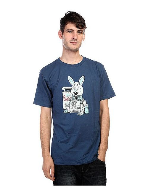 Dcshoes   Мужская Синяя Футболка Dc Cliver Bunny Ensign Blue