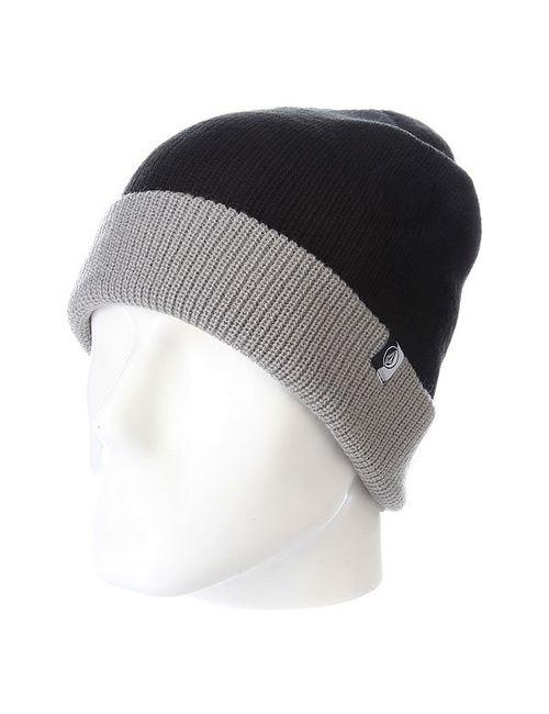 Volcom | Мужская Чёрный Шапка Носок Sweep Beanie Black/Grey
