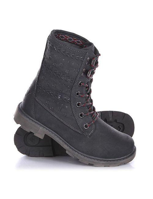 Roxy   Женские Серые Ботинки Женские Pike J Boot Charcoal