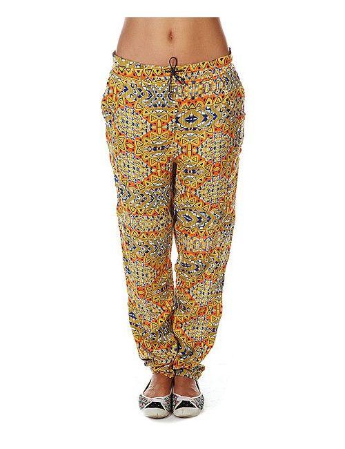 Rutme | Женские Многоцветные Штаны Широкие Женские Alana Ceylon Yellow