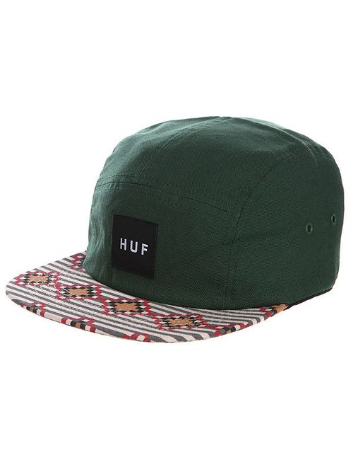 Huf | Мужская Зелёная Бейсболка Пятипанелька Native Duck Volley Hunter Green/Late