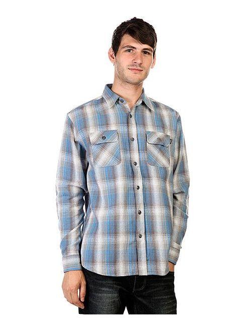 Huf | Мужская Голуба Рубашка В Клетку Chopper Flannel Blue