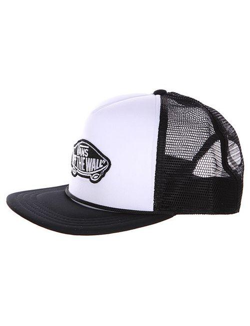 Vans   Мужская Черный Бейсболка С Сеткой Classic Patch Truc White/Black