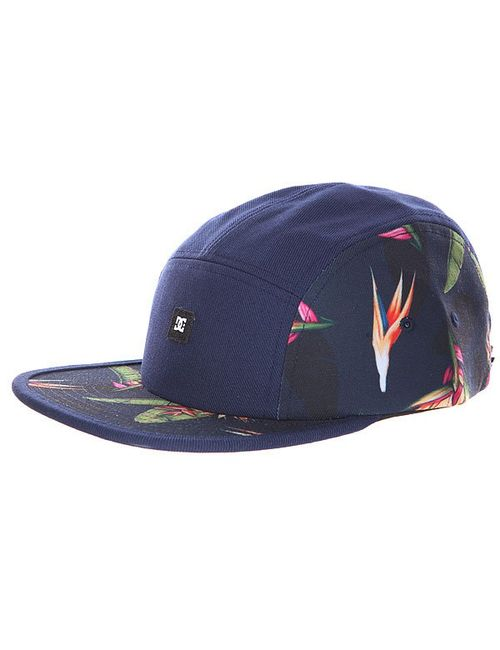 Dcshoes | Мужская Синяя Бейсболка Пятипанелька Dc Waterbed Hats Blue Iris