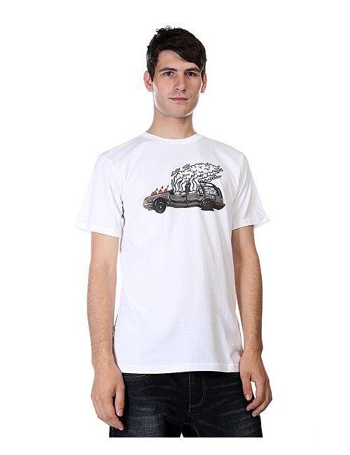 Dcshoes | Мужская Белая Футболка Dc Wes Car Ss White