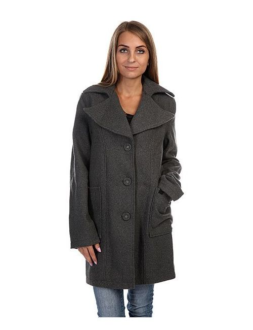 Insight | Женское Серое Пальто Женское Single Breasted Coat Beaten Floyd