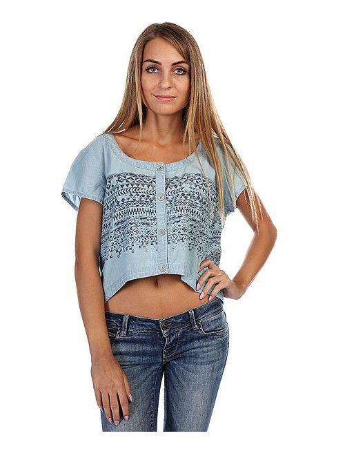 Insight | Женский Голубой Топ Женский West Crescent Shirt Mid Blue