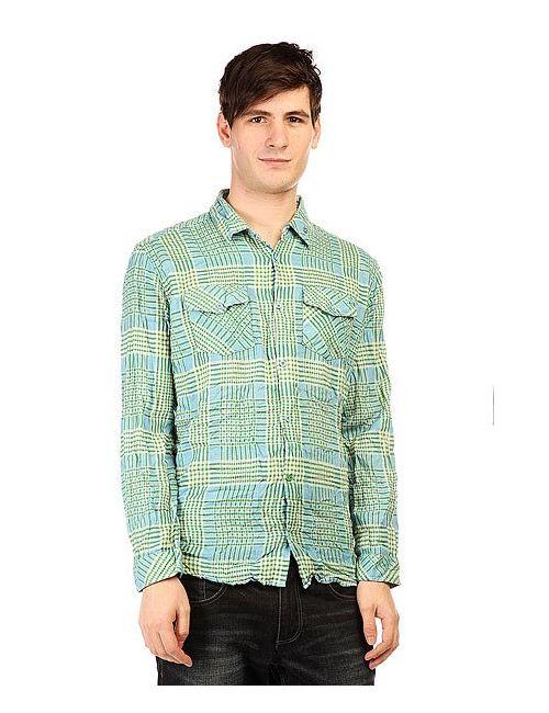 Insight | Мужская Голуба Рубашка В Клетку Fred Sonic Weed Green