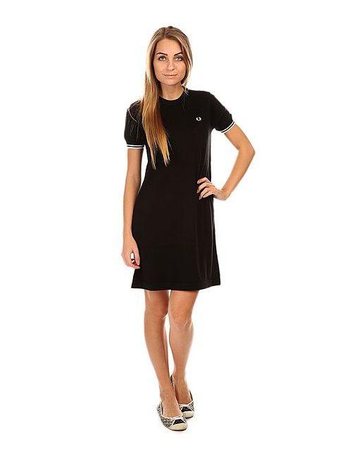 Fred Perry | Женское Черный Платье Женское Knitted Dress Black