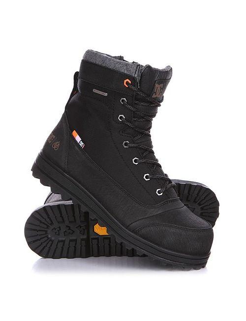 Dcshoes | Мужские Оранжевые Ботинки Зимние Dc Travis Boot Black/Orange