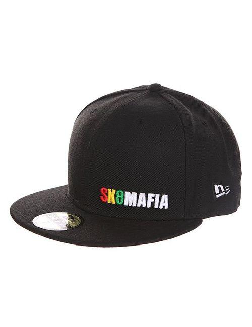 Sk8Mafia | Мужская Чёрная Бейсболка С Прямым Козырьком Og Rasta New
