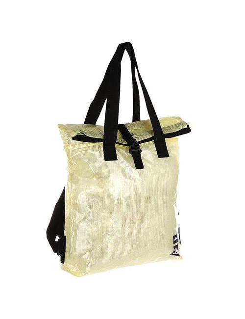 Stussy | Мужская Жёлтая Сумка Clear Tarp. Tall Tote Bag Clear