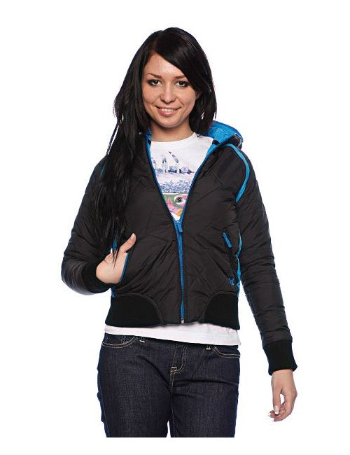 Zoo York   Женская Чёрная Куртка Женская Nylon Duvet Coat Black