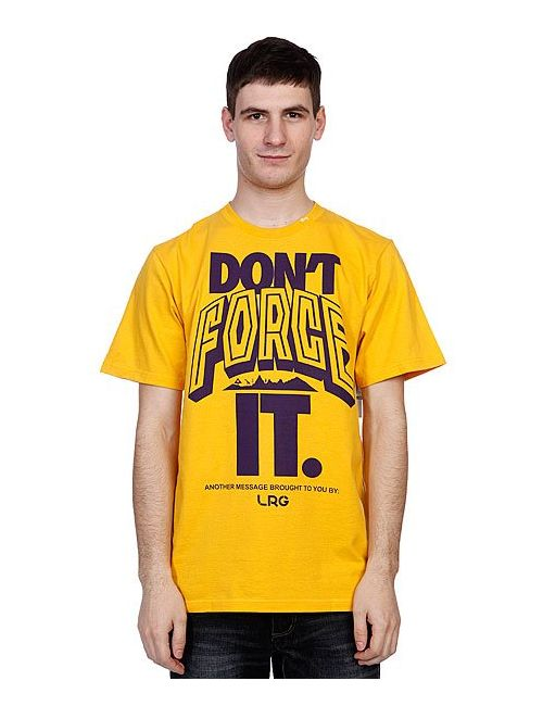 LRG | Мужская Футболка Dont Force It Tee Mustard