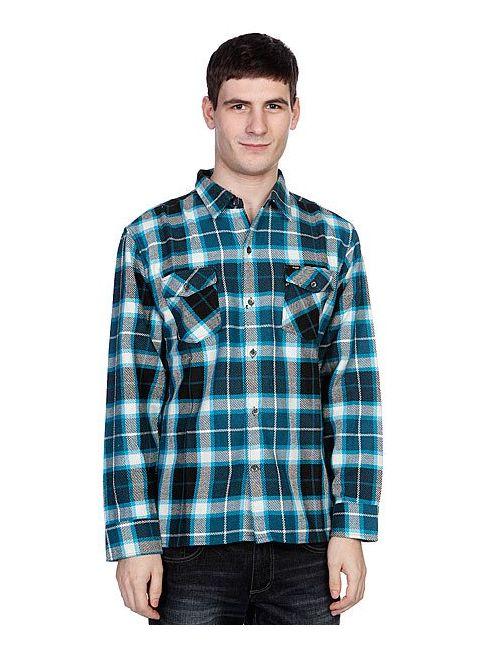 Enjoi   Мужская Синяя Рубашка Утепленная Not Bad Plaidturquoise