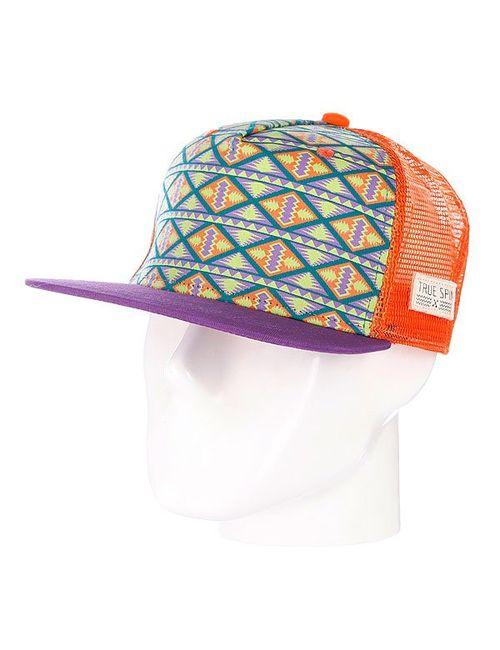 Truespin   Мужская Оранжевая Бейсболка True Spin Inka Purple