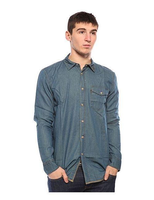 Globe   Мужская Синяя Рубашка Heist Shirt Dusk