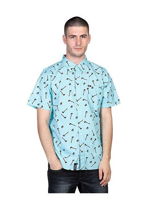 LRG   Мужская Рубашка Axman Ss Woven Cayman Blue