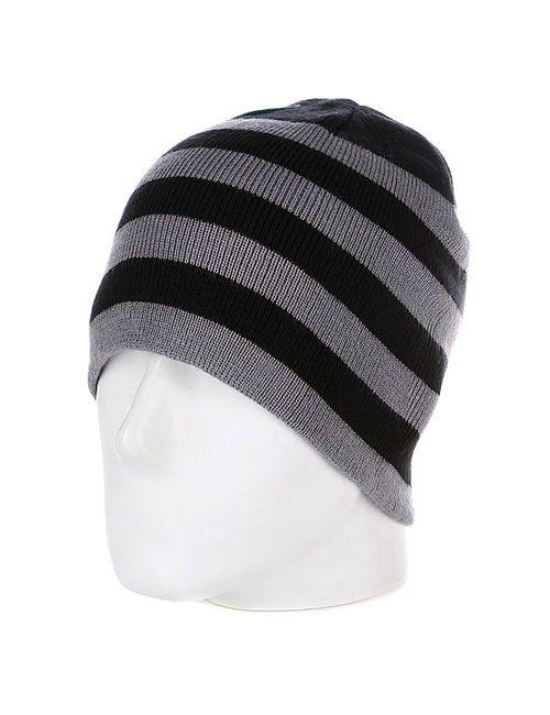 Urban Classics | Мужская Чёрная Шапка 2 Stripe Beanie Black/Grey