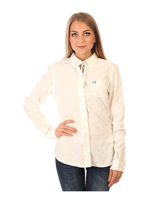 Fred Perry | Женская Белая Рубашка Женская Tonal Dot Tipped Shirt White