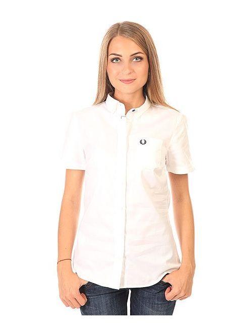 Fred Perry | Женская Белая Рубашка Женская Basket Weave Shirt White