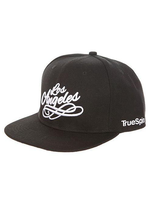 Truespin | Мужская Чёрная Бейсболка С Прямым Козырьком Los Angeles Black