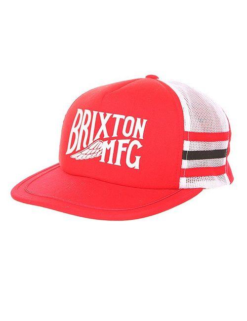 Brixton   Мужская Красная Бейсболка С Сеткой Coventry Mesh Cap White/Red