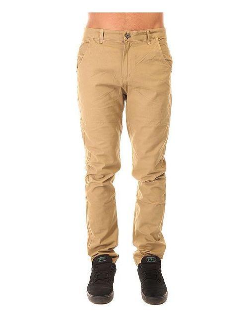 Запорожец | Мужские Бежевые Штаны Прямые Classic Pants Beige